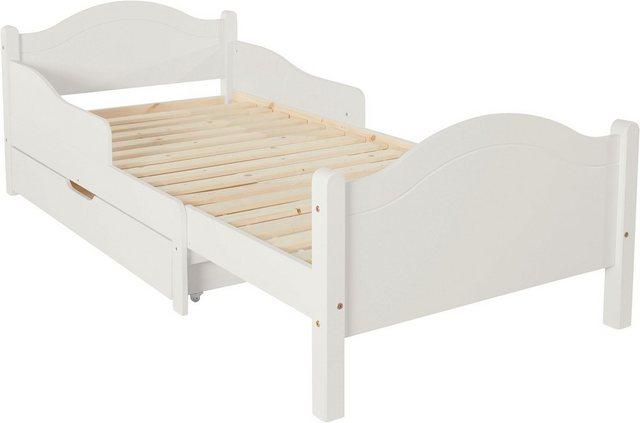 Kinderbetten - Ausziehbares Kinderbett »Mia« inkl. Bettkasten » weiß  - Onlineshop OTTO