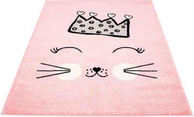 Kinderteppich »Bubble Kids 1331«, Carpet City, rechteckig, Höhe 11 mm, Katzen Design, Kurzflor