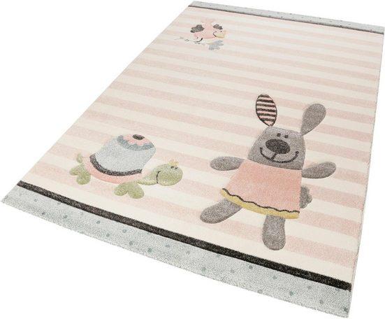 Kinderteppich »Happy Friends«, Sigikid, rechteckig, Höhe 13 mm