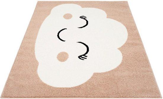 Kinderteppich »Bubble Kids 1324«, Carpet City, rechteckig, Höhe 11 mm, Wolken Design, Kurzflor