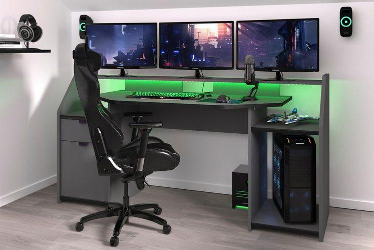 Parisot Gaming Tisch »Set-Up« inkl. LED Beleuchtung
