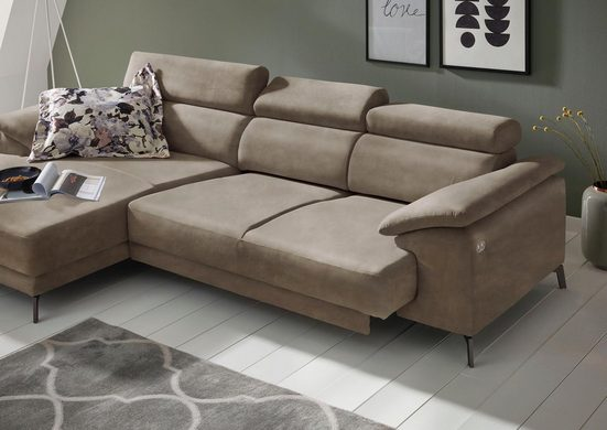 Places of Style »Malaga« Ecksofa, wahlweise mit elektrischer Relaxfunktion