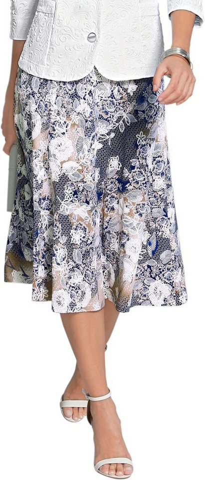 e10245fdb549f Lady Jersey-Rock rundum mit romantischen Blüten und Spitze bedruckt online  kaufen | OTTO