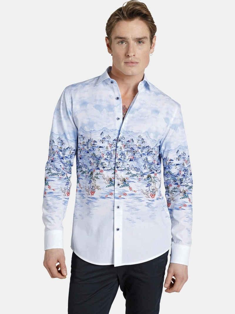 SHIRTMASTER Langarmhemd »chinesebeauty« Szenischer All Over Druck