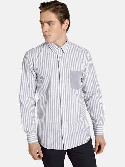 SHIRTMASTER Langarmhemd »hellosailor« Baumwollhemd aus edlem Jacquard
