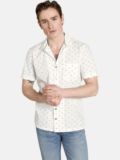 SHIRTMASTER Kurzarmhemd »viennamelange« mit zweifarbigen Knöpfen