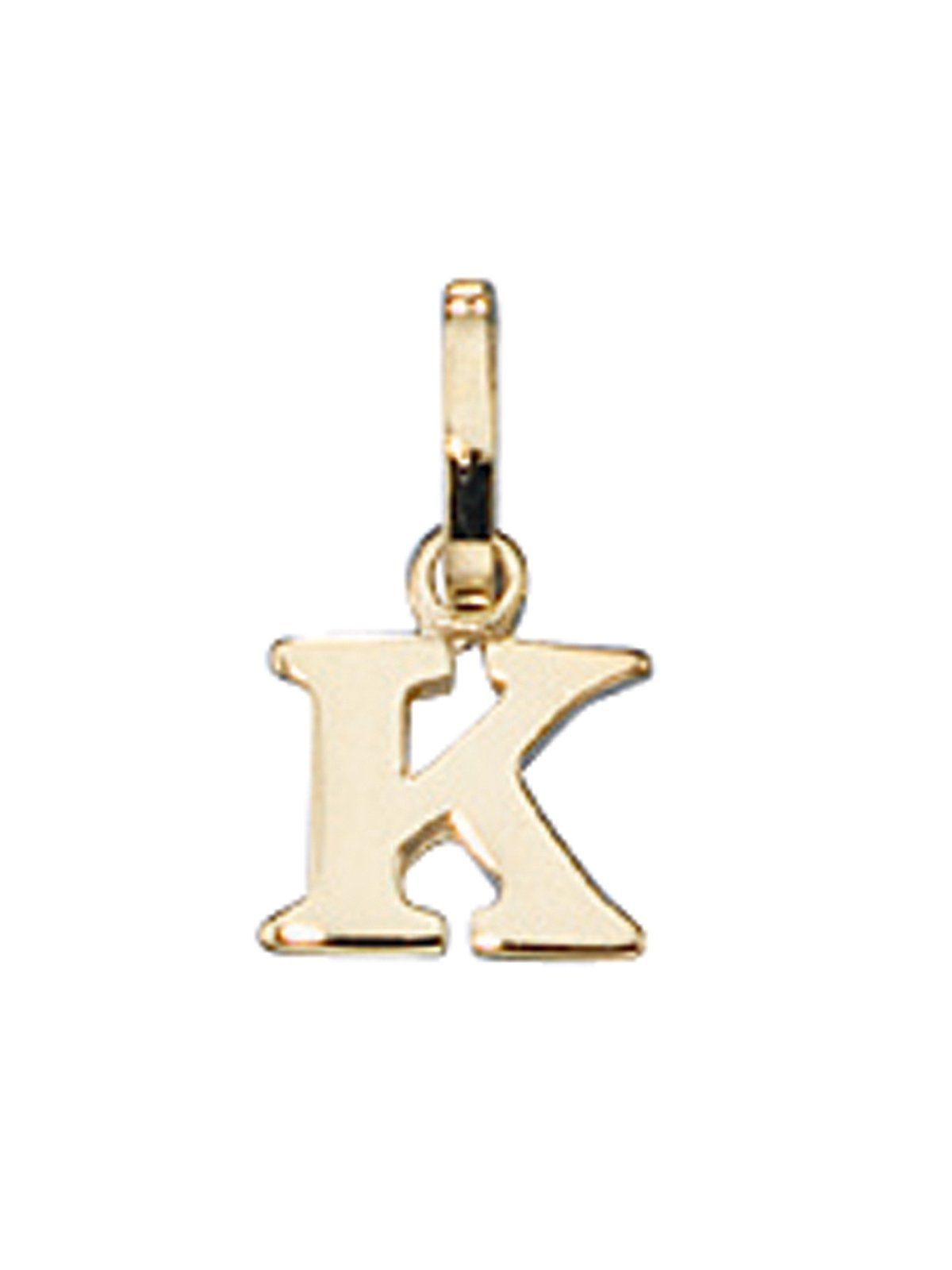 Adelia´s Kettenanhänger »Buchstabenanhänger K Anhänger« 333 Gold