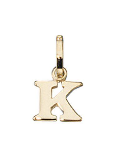 Adelia´s Kettenanhänger »Buchstabenanhänger K Anhänger«, 333 Gold
