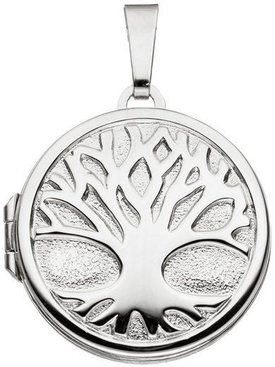 Adelia´s Kettenanhänger »Medaillon Baum Anhänger« 925 Silber Ø 2.15 mm