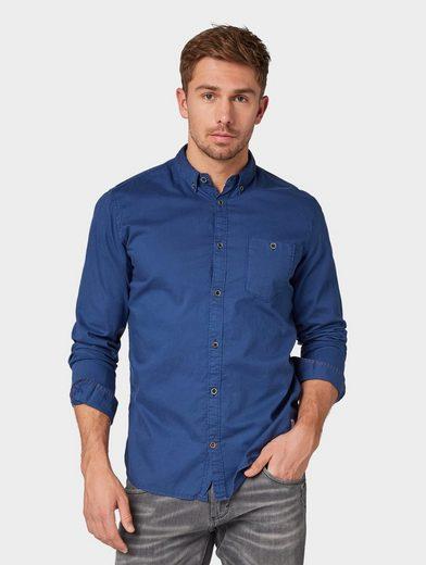 TOM TAILOR Hemd »Hemd mit verwaschener Optik«