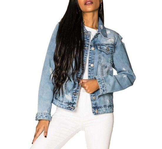 Simply Chic Jeansjacke »3081« Damen Denim Jeansjacke