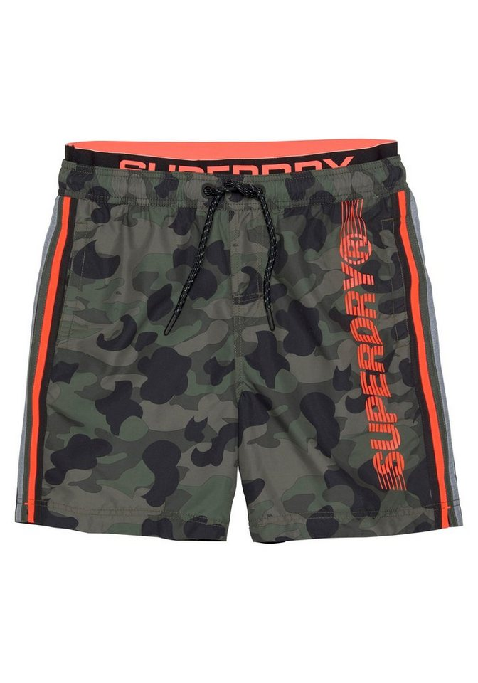 superdry badeshorts im armylook online kaufen otto. Black Bedroom Furniture Sets. Home Design Ideas