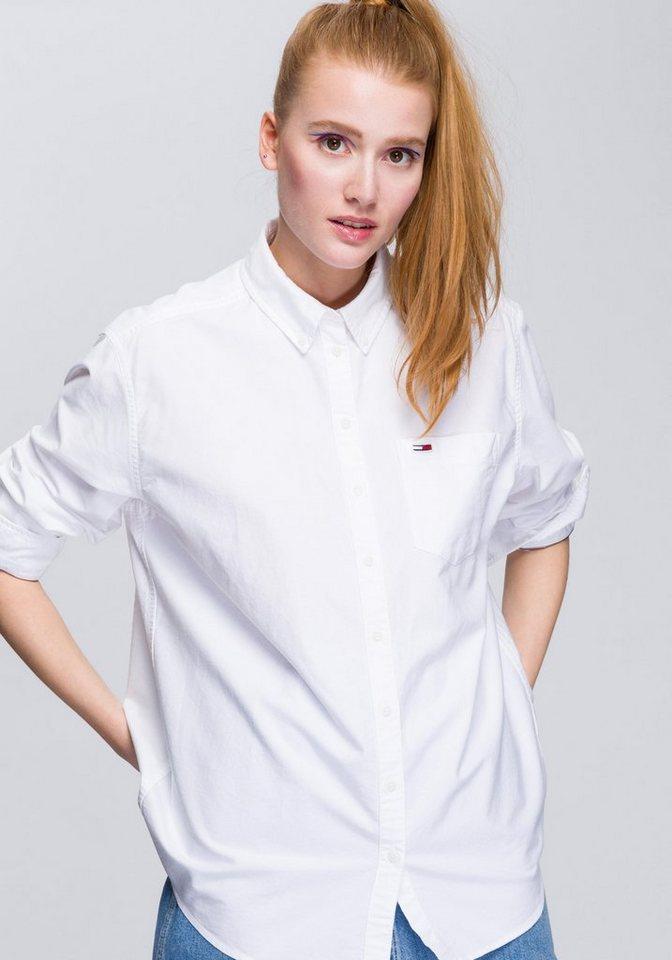 TOMMY JEANS Hemdbluse mit modischem Button-Down-Kragen