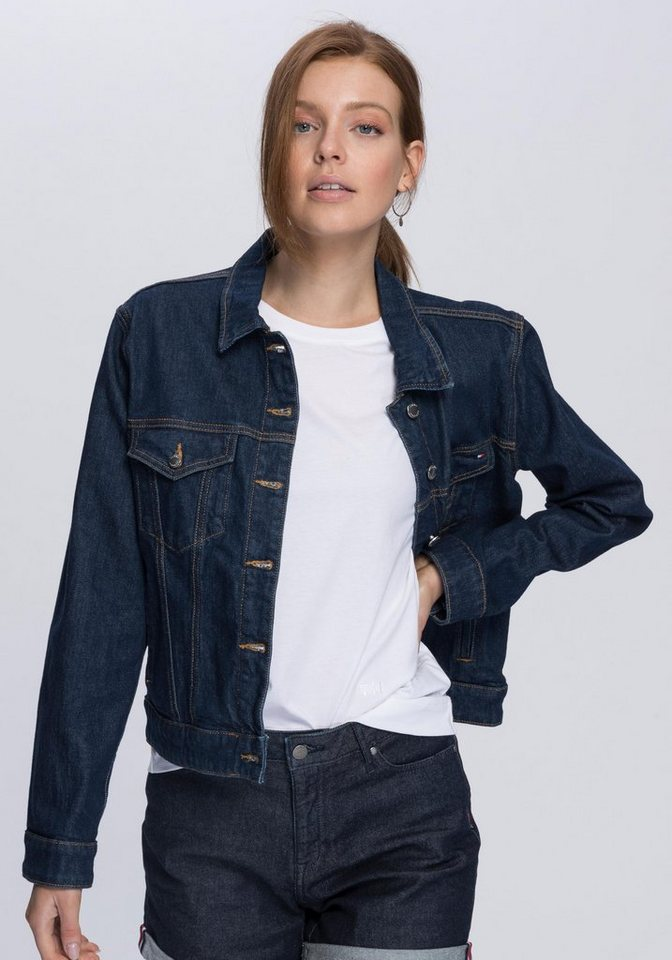 4a30006a11 TOMMY HILFIGER Jeansjacke »Veronica« in markanter Raw-Optik online ...