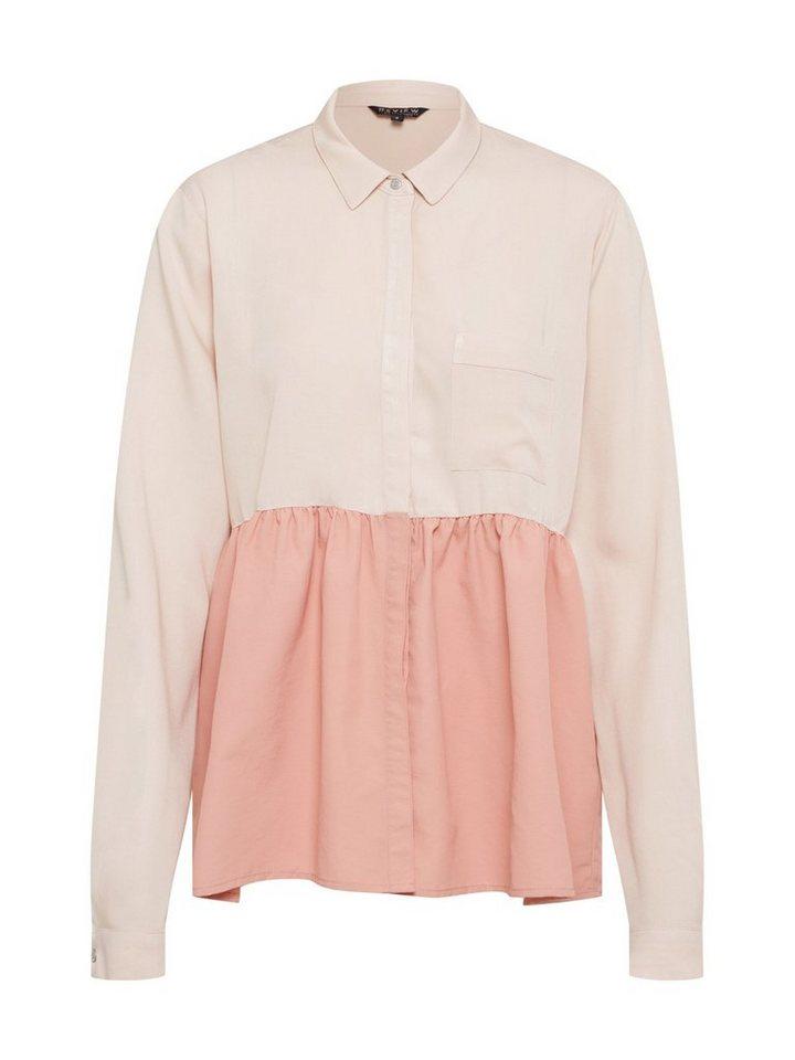 REVIEW Klassische Bluse Schößchen   Bekleidung > Blusen > Klassische Blusen   Rosa   Viskose   REVIEW