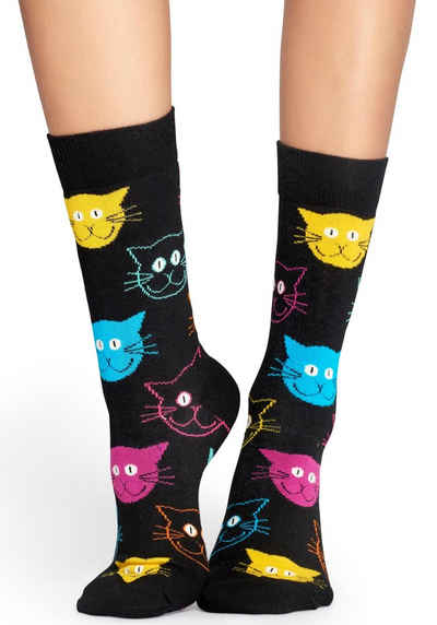 Happy Socks Socken »Cat« mit bunten Katzengesichtern