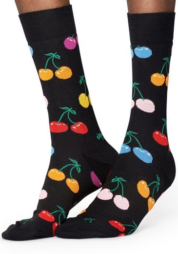 Happy Socks Socken »Cherry« mit buntem Kirschenmuster