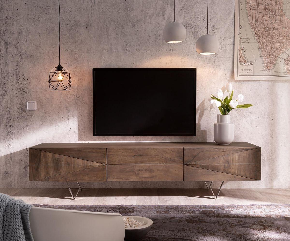 TV Möbel - DELIFE Fernsehtisch Wyatt Akazie Braun 175 cm 1 Klappe  - Onlineshop OTTO