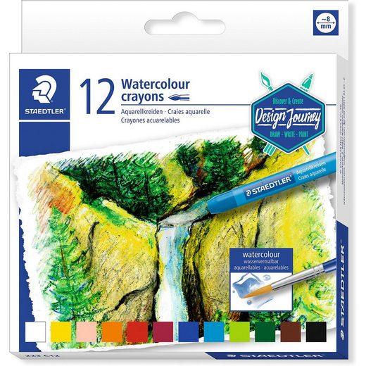 STAEDTLER Aquarellkreide, 12 Farben
