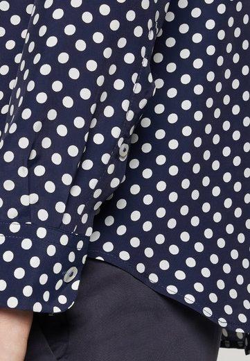 Langarm »schwarze Marine Seidensticker Rose« Kragen Punkte Hemdbluse dxrCoeWB