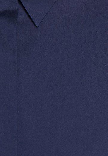 Kurzarm Seidensticker Uni Rose« Dunkelblau Hemdbluse Kragen »schwarze 35RL4jA