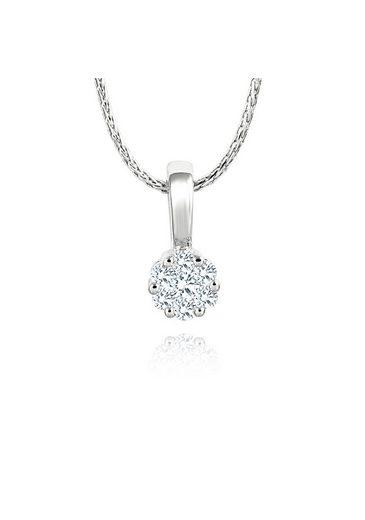 Diamond Line Halskette mit Anhänger und 7 Brillanten