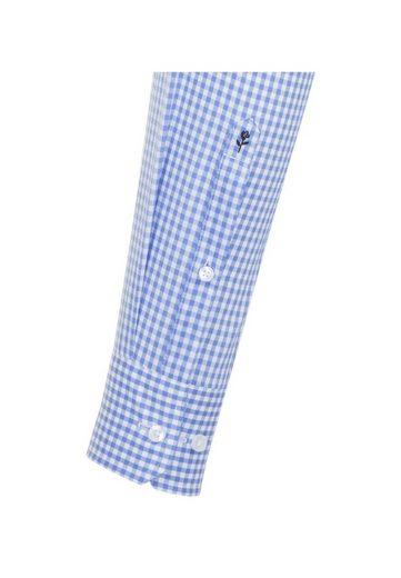 Langarm »slim« Slim Karo Businesshemd kragen Kent Seidensticker q1v4t4