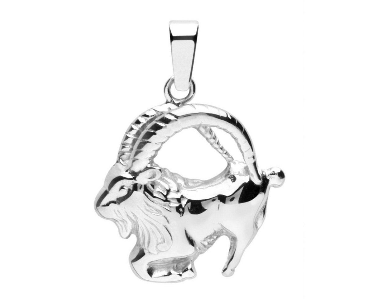 OSTSEE-SCHMUCK Kettenanhänger »Tierkreiszeichen Steinbock Silber 925/000« | Schmuck > Halsketten > Ketten ohne Anhänger | Weiß | OSTSEE-SCHMUCK