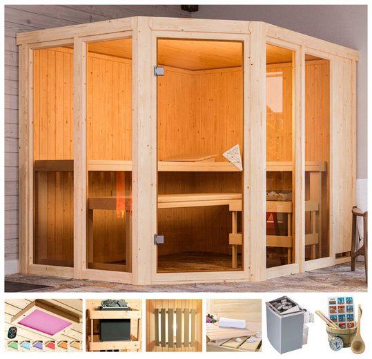 KARIBU Sauna »Melody«, 231x196x198 cm, 9 kW Ofen, versch. Ausführungen