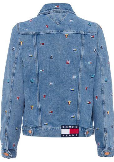 Kleinen Mit Jeans Tommy Stickereien Jeansjacke t8R6Tqnvw