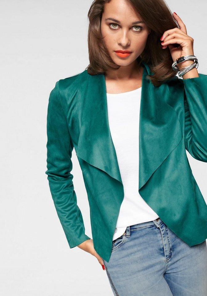 Only Kurzblazer »FLEUR« mit Wasserfall-Ausschnitt   Bekleidung > Blazer > Kurzblazer   Grün   Jeans   Only