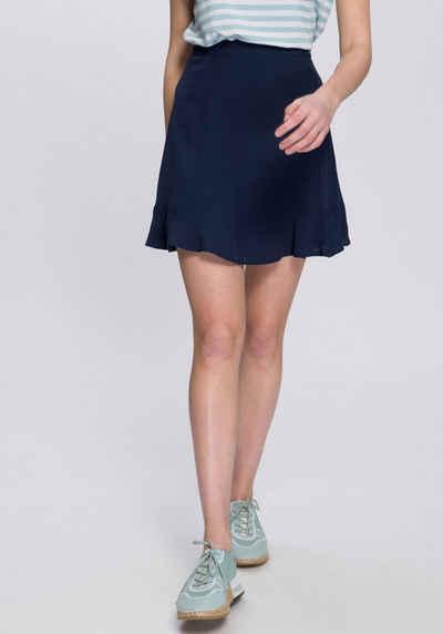 Sublevel Ladies Destroyed Denim Skirt Kurzer Rock blau