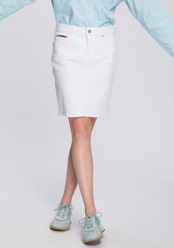 super popular 7a7d2 83f71 Damen TOMMY JEANS Jeansrock mit dezenten Logostickereien weiß |  08719857568770