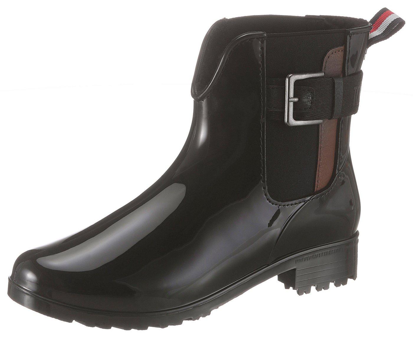 TOM TAILOR Chelseaboots mit Zierschnalle | Schuhe > Boots > Chelsea-Boots | Schwarz | Gummi | TOM TAILOR