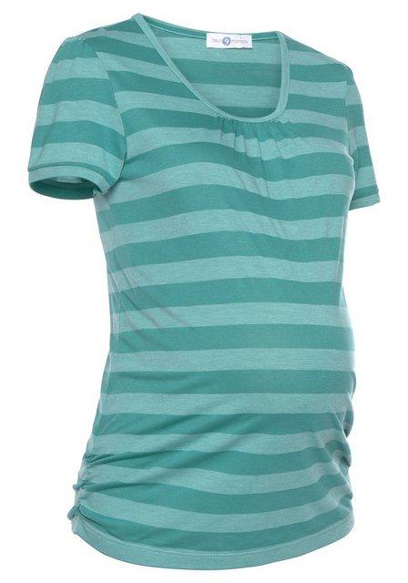Neun Monate Umstandsshirt geringelt | Bekleidung > Umstandsmode > Umstandsshirts | neun monate