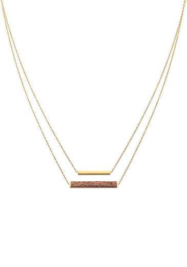 KERBHOLZ Цепочка mit Подвески »Necklace Walnut, GEOREC9559«