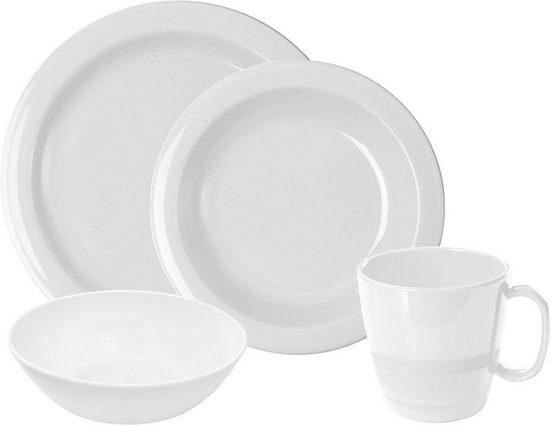 WACA Frühstücks-Geschirrset (8-tlg), Kunststoff