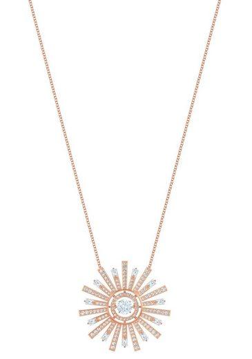 Swarovski Kette mit Anhänger »Sunshine, weiss, rosé Vergoldung«, mit Swarovski® Kristallen