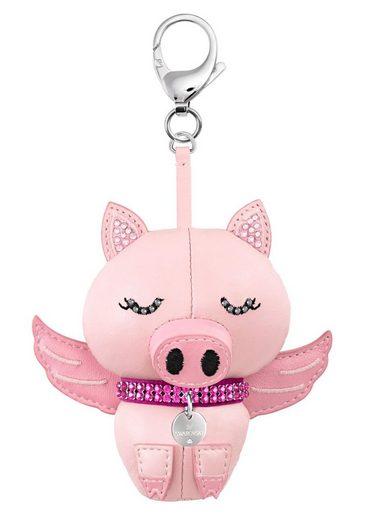 Swarovski Schlüsselanhänger »Bu Bu, rosa, rhodiniert, 5457470«, mit Swarovski® Kristallen