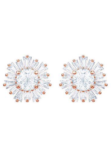 Swarovski Paar Ohrstecker »Sunshine, weiss, rosé Vergoldung, 5459597«, mit Swarovski® Kristallen