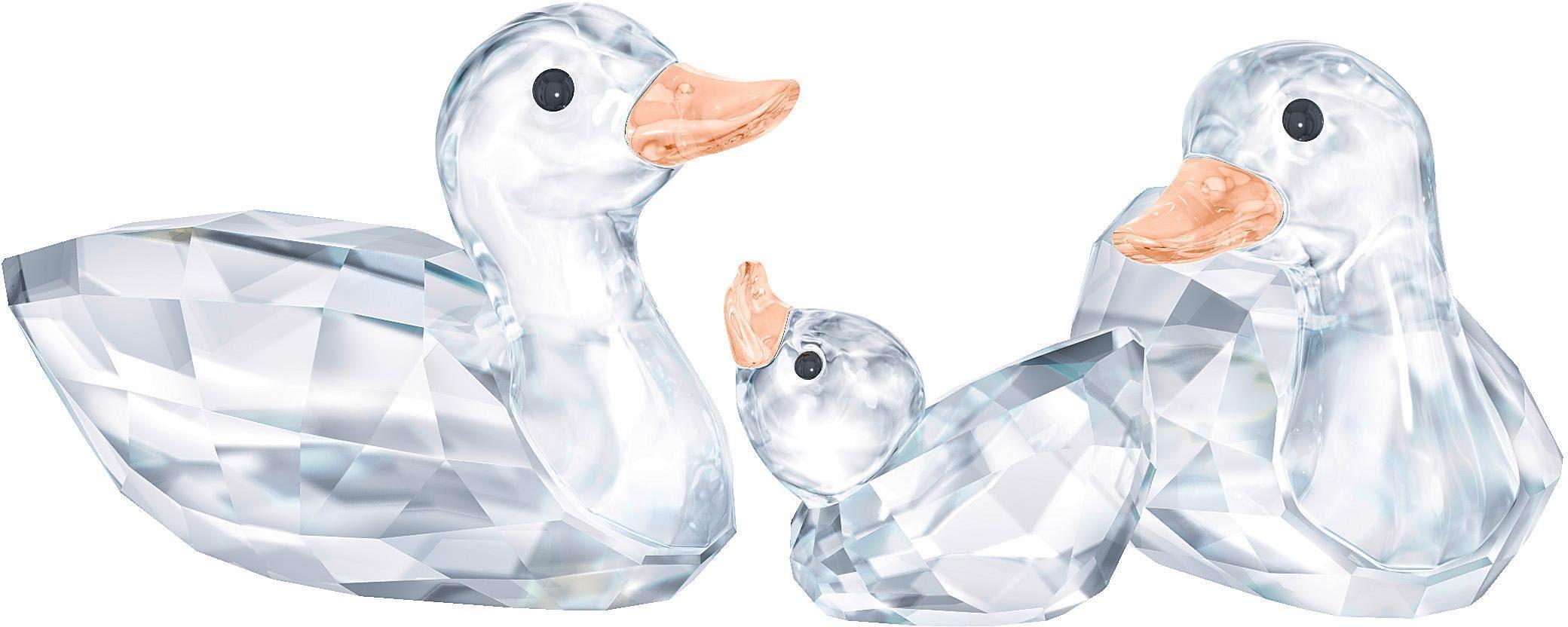 Swarovski Dekofigur »Enten, 5376422« (3 Stück), Swarovski® Kristalle
