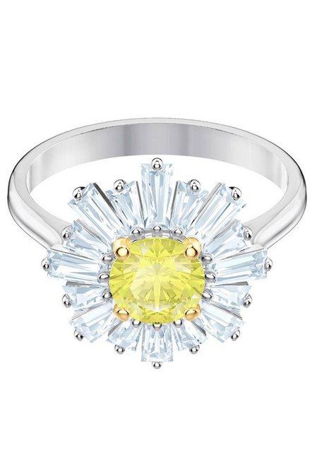 Swarovski Fingerring »Sunshine, gelb, rhodiniert, 5482713, 5482709, 5472481, 5482701«, mit Swarovski® Kristallen | Schmuck > Ringe | Swarovski