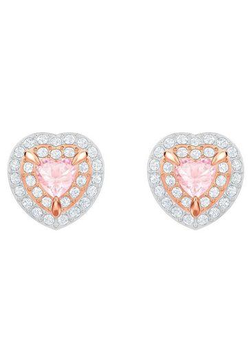 Swarovski Paar Ohrstecker »One, mehrfarbig, rosé Vergoldung, 5446995«, mit Swarovski® Kristallen