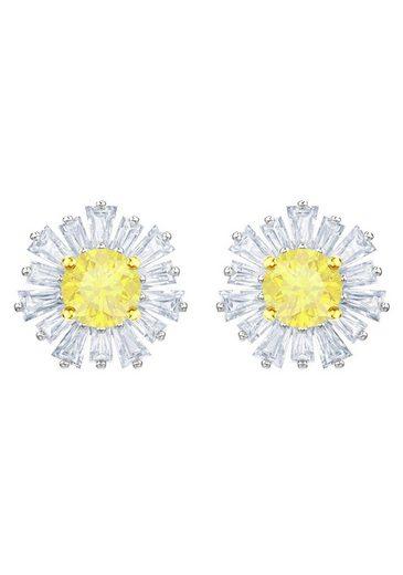 Swarovski Paar Ohrstecker »Sunshine, weiss, rhodiniert, 5459591« mit Swarovski® Kristallen