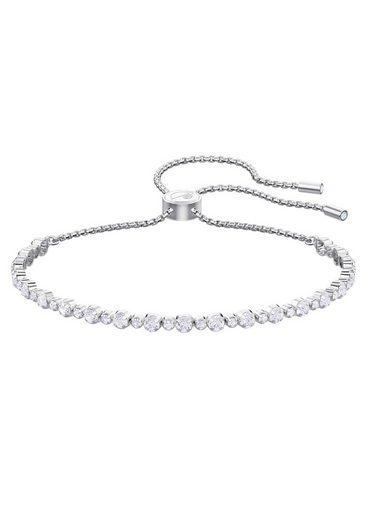 Swarovski Armband »Subtle, weiss, rhodiniert, 5465384«, mit Swarovski® Kristallen