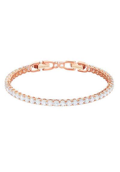 Swarovski Armband »Tennis, weiss, rosé Vergoldung, 5464948«, mit Swarovski® Kristallen