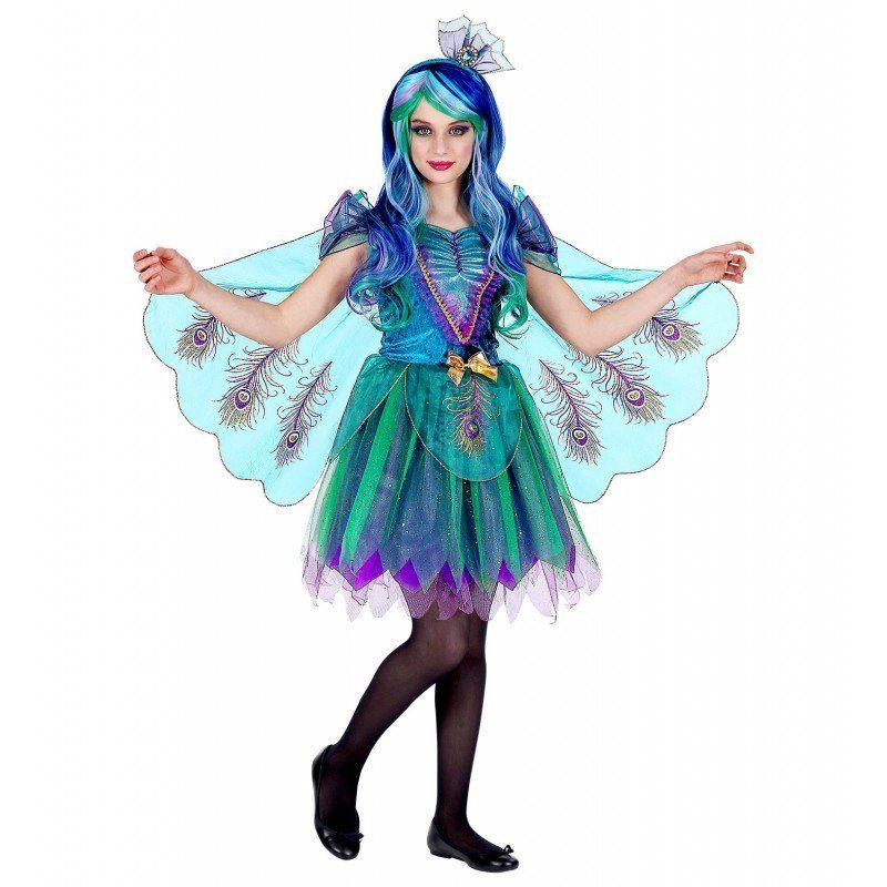 Mädchen,  Kinder,  Unisex Pfauenkostüm Lilli für Mädchen blau | 08003558069965