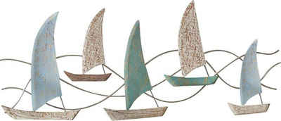 Schneider Wanddekoobjekt »Segelboote«, Wanddeko, aus Holz, maritim