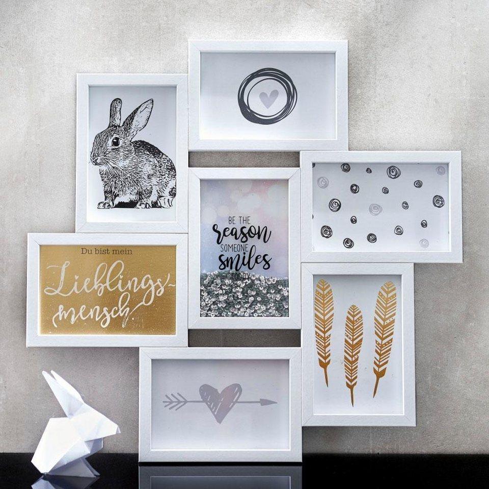 Graue Gestaltung Von Dem Flur Mit Wanddeko Bilderrahmen: Schneider Galerierahmen »Glitter«, Weiß Kaufen