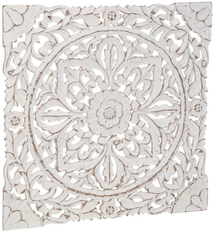 schneider wand deko holz ornamentik wei kaufen otto. Black Bedroom Furniture Sets. Home Design Ideas